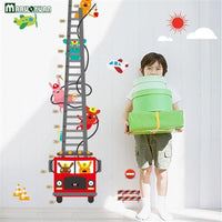 Fire Truck Height Wall Sticker Decal Red Multi PVS