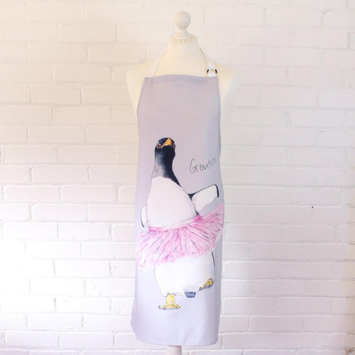 'Penguin In A Tutu' Apron - Willow Leaf Gifts