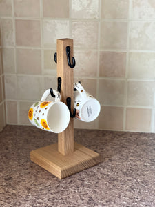Mug Tree Handmade from Oak