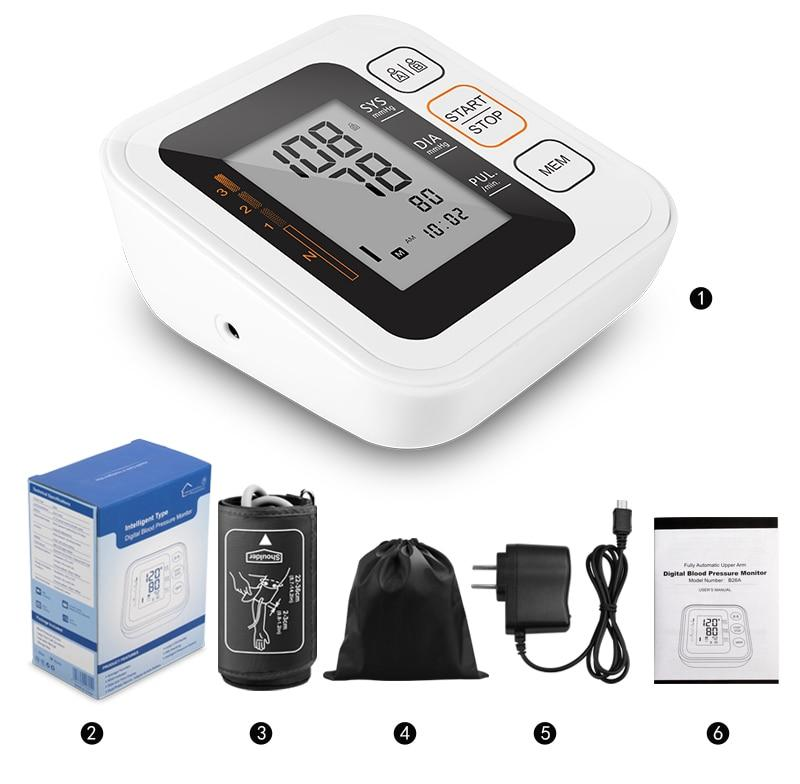Package included - Majota Cigw Home Digital Upper Arm Blood Pressure Monitor
