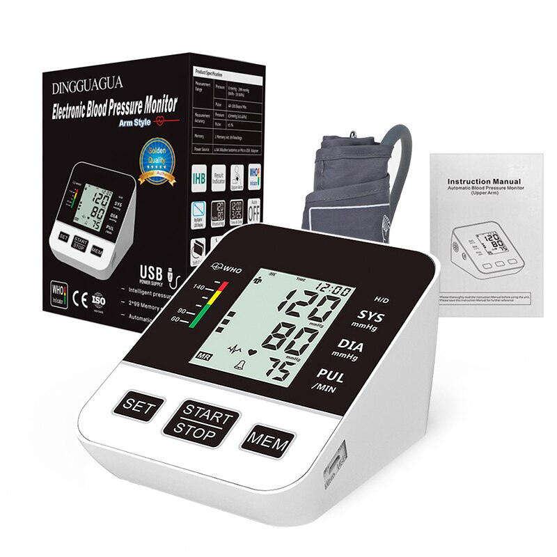 Package - Majota®Dingg Home Digital Upper Arm LCD Blood Pressure Monitor