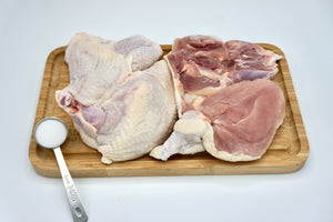 2 Boneless Chicken COMBO PACK cut from 3.25 to 3.75 lbs chickens. (Chef's Cut) (LIMITED TIME FREE SHIPPING)