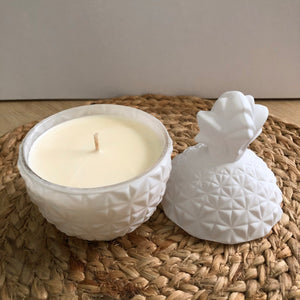 White Pineapple Soy Wax Candle - Evoking Serenity