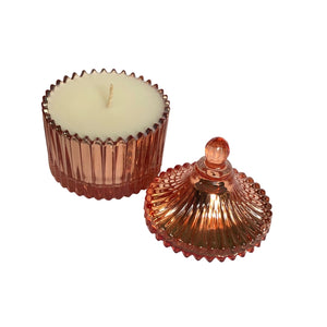 Rose Gold Carousel Candle - Evoking Serenity