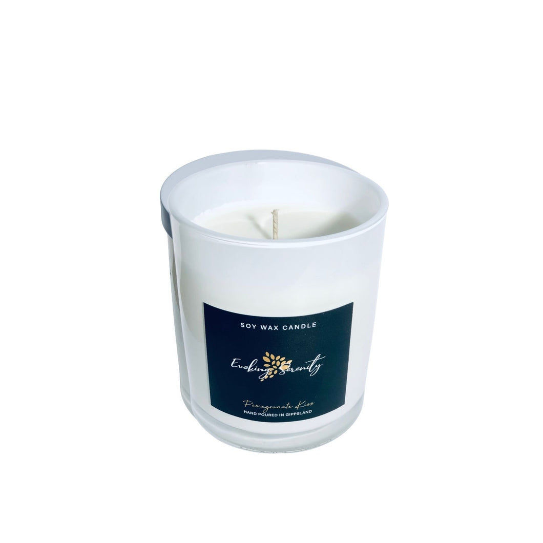 Pomegranate Kiss Soy Wax Candle - Evoking Serenity