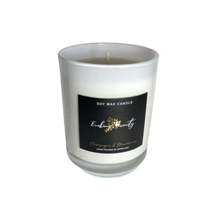Champagne and Strawberries Soy Wax Candle - Evoking Serenity