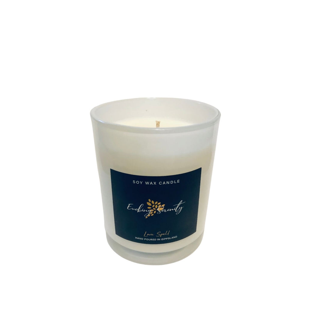 Love Spell Soy Wax Candle - Evoking Serenity