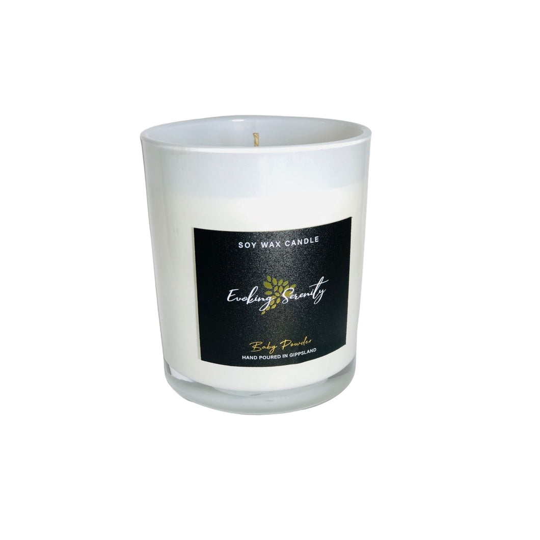 Baby Powder Soy Wax Candle - Evoking Serenity