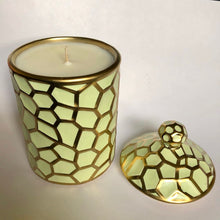 Load image into Gallery viewer, Mint and Gold Canister Candle - Evoking Serenity