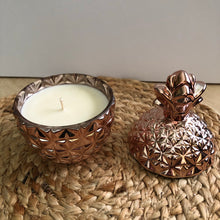 Load image into Gallery viewer, Rose Gold Pineapple Soy Wax Candle - Evoking Serenity