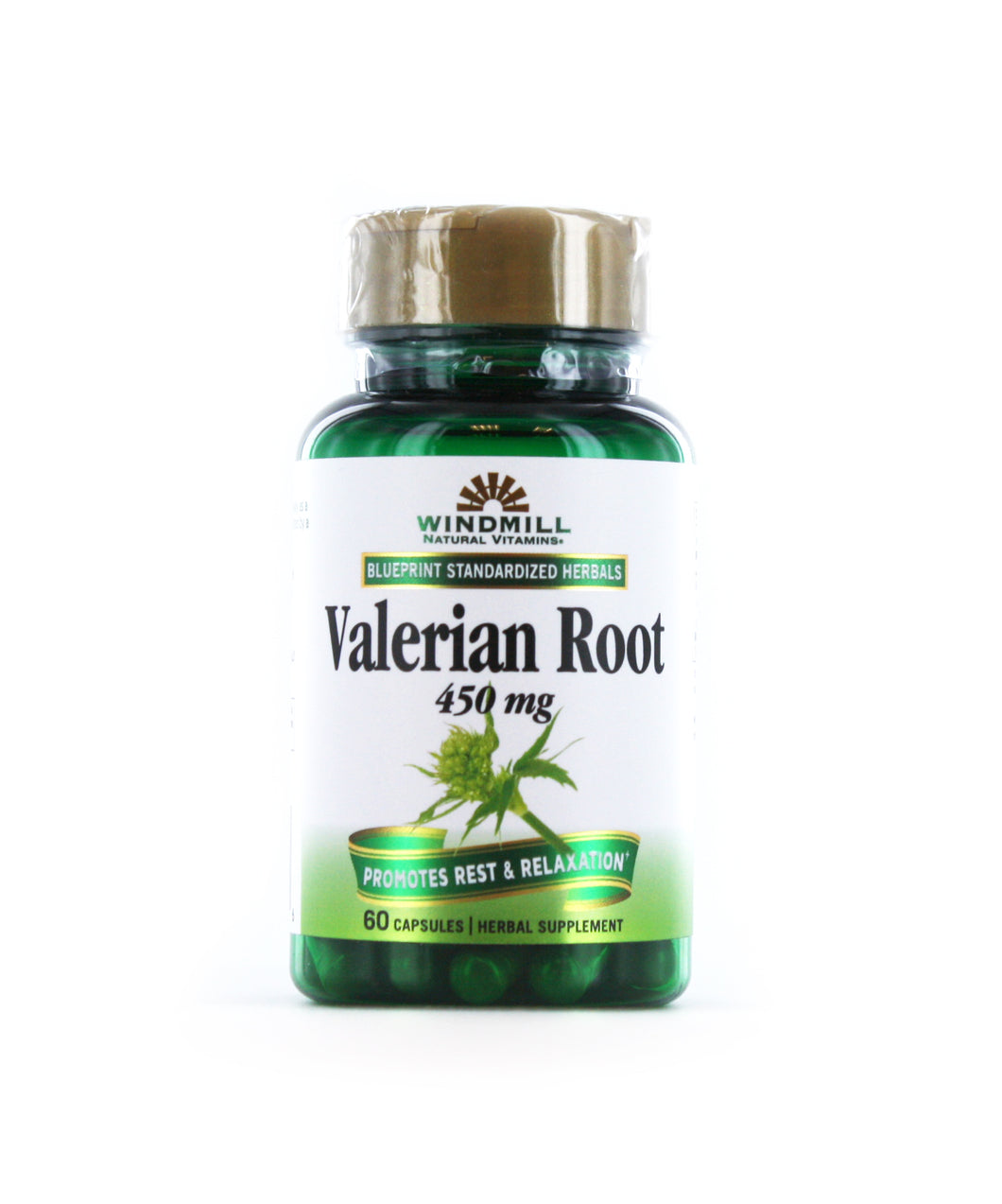 Valerian Root 450 mg.
