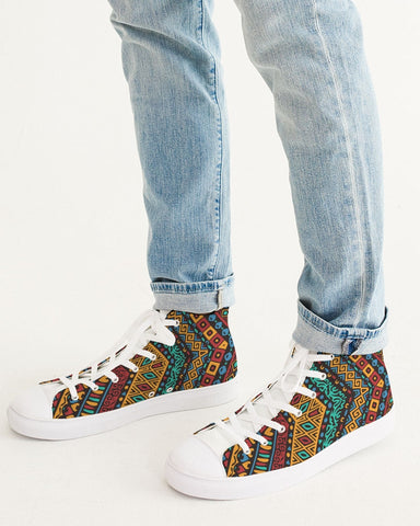color Men's Hightop Canvas Shoe