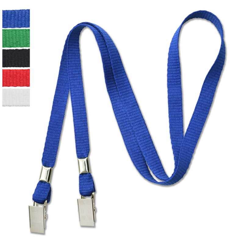 "3/8"" Open-Ended Event Lanyard/Mask Holder w/ 2 Bulldog Clips provide by mforia.com - fully promoted davie - mint prints - wizard creations - shirts and things.png"