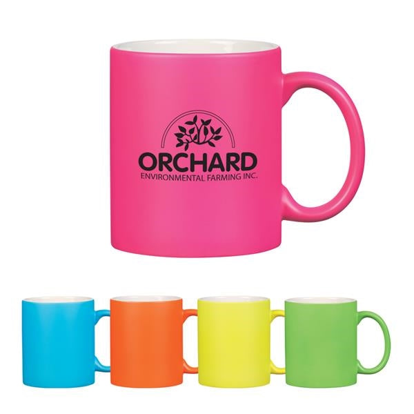 11 oz. Neon Mug with C-Handle