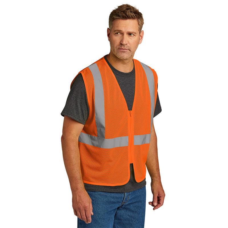 CSV101 CornerStone® ANSI 107 Class 2 Economy Mesh Zippered Vest