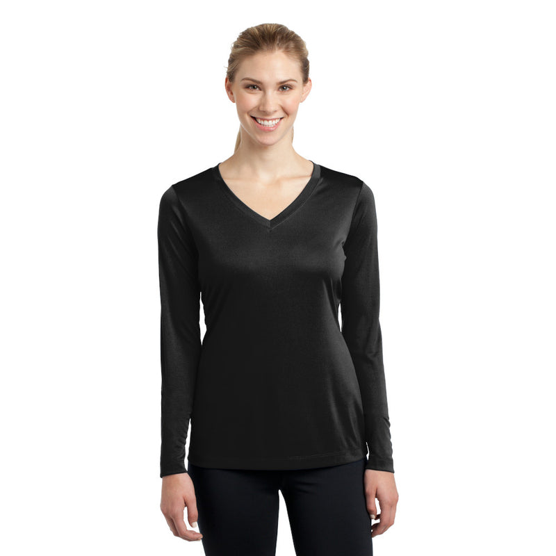LST353LS Sport-Tek Ladies Long Sleeve V-Neck Dri-Fit ™