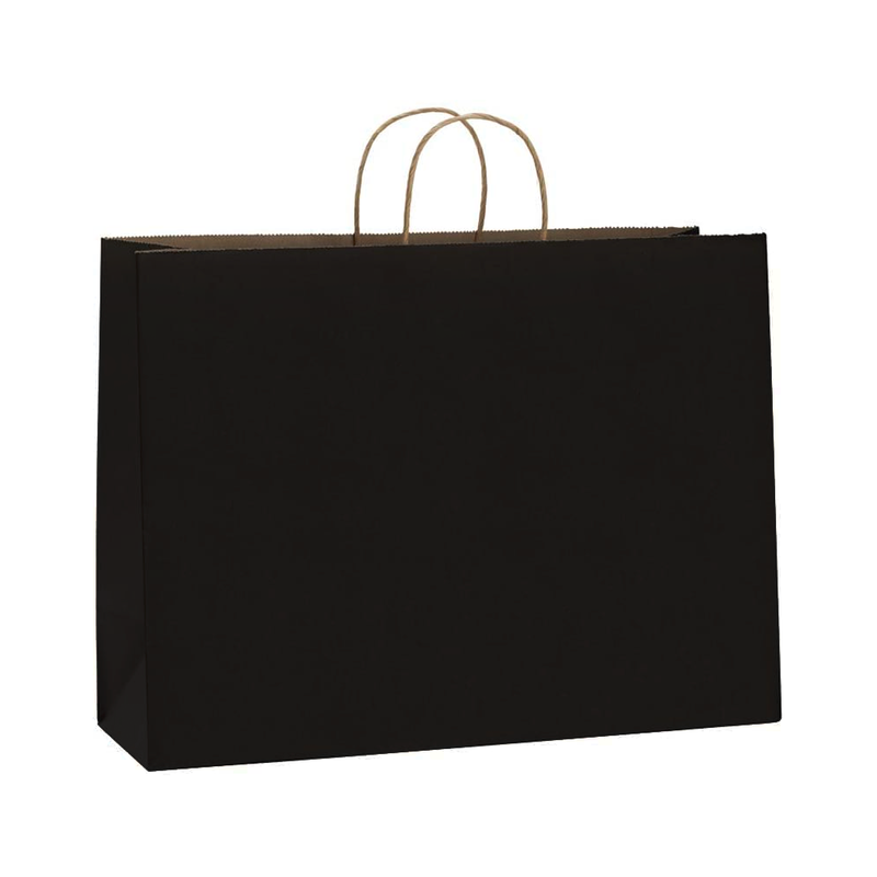 BagDream 16x6x12 Inches Matte Black Large Paper Bag  ™