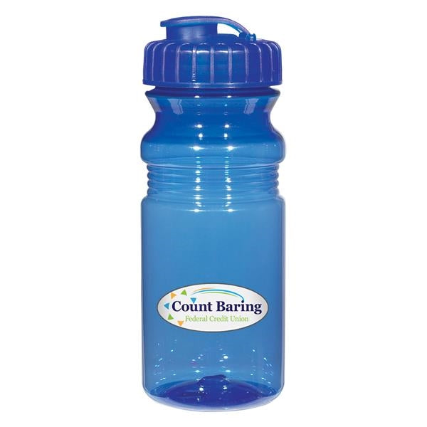 20 Oz. Poly-Clear Fitness Bottle With Super Sipper Lid