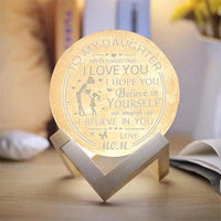 Mom Daughter- 3D Print Moon Light - Believe in yourself