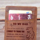 Son To Dad - Thank You For All - Money Clip Wallet