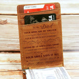 Daughter To Dad - Shelter - Money Clip Wallet