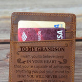 To My Grandson - Never Lose - Money Clip Wallet