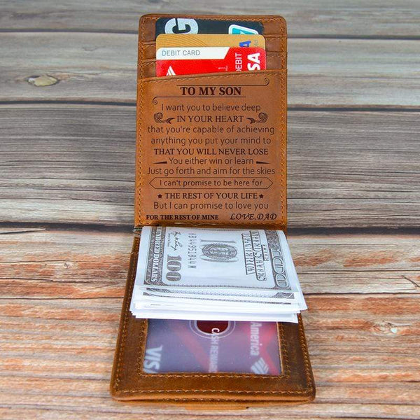 Dad To Son - Never Lose - Money Clip Wallet