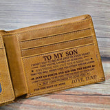 Dad To Son - Genuine Premium Leather Card Wallet