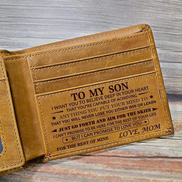 Mom To Son - Genuine Premium Leather Card Wallet