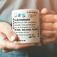 To My Granddaughter - Straighten Your Crown - Coffee Mug