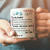Mom To Daughter - Straighten Your Crown - Coffee Mug
