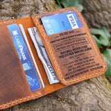 Mom To Son -You Will Never Lose- Leather Bifold Wallet