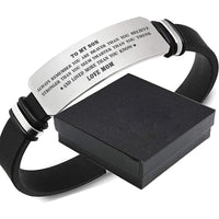 Mom To Son - Loved More Than You Know - Inspirational Bracelet