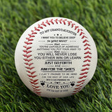 To My GrandDaughter - Baseball- Never Lose