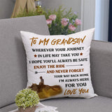 To My Grandson - Enjoy The Ride - Pillow Case