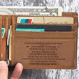 To My Grandson - Never Lose- Genuine Leather Wallet