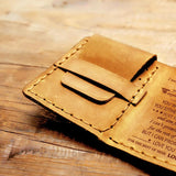 Dad To Son - Premium Cow Leather Trifold Wallet