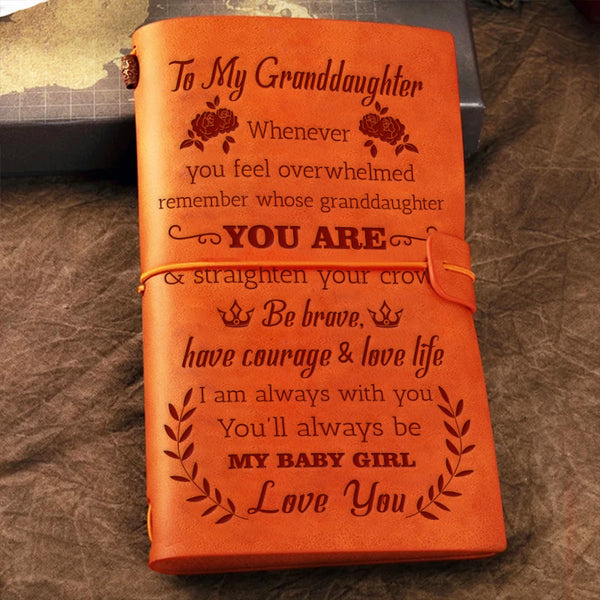 To Granddaughter - Straighten Your Crown- Notebook