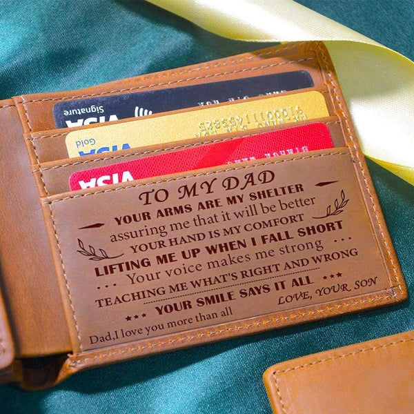 Son To Dad - Shelter - Genuine Leather Wallet