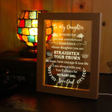 Dad To Daughter - Straighten Your Crown - Frame Lamp