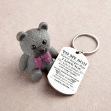 Mom To Son - Be The Great Man - Inspirational Keychain