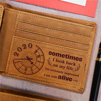 I Am Still Alive - Genuine Leather Wallet