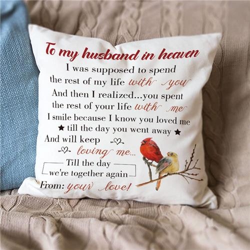 To My Husband In Heaven - Pillow Case