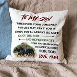 Mum To Son - Enjoy The Ride - Pillow Case🌙