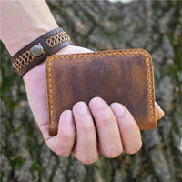 Mum To Son -You Will Never Lose- Leather Bifold Wallet