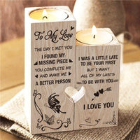 To My Love - You're My Missing Piece - Candle Holder