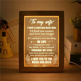 Husband To Wife - How Special You Are To Me - Frame Lamp