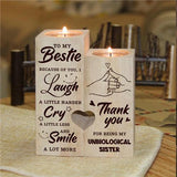 To My Bestie - Smile A Lot More - Candle Holder