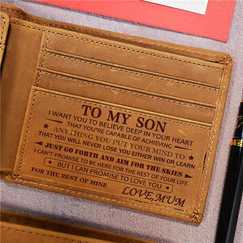 Mum To Son - Never Lose - Genuine Leather Wallet