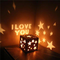 Stars Wooden Night Light - Best Gift for Someone You Love